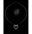Elegant nested gold heart necklace set vector image vector image