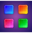 Mosaic colorful buttons vector image