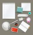 Paper Empty Labels Set Isolated on Grey Background vector image
