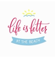 Summer beach lettering typography vector image