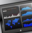 Tablet diagram display vector image vector image