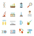 Biotechnology And Genetics Color Icons vector image