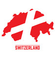 Flag and map of switzerland vector image