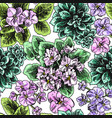 hand drawn seamless pattern with vector image