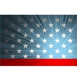 American flag with the rays vector image vector image