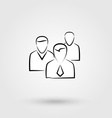 Group of people sign icon vector image