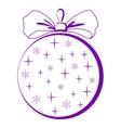 christmastree glass ball pictogram vector image