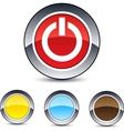 power round button vector image vector image