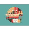 City bus conceptual icon vector image