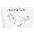 Bird Coloring worksheet vector image vector image