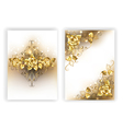 White Design with Golden Roses vector image vector image