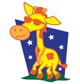 Afro Giraffe vector image