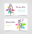 Beautiful woman cards vector image