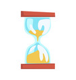 hourglass cartoon vector image