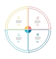Linear infographics Pie chart diagram with 4 vector image