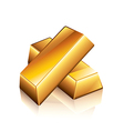 object gold bars vector image