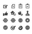 quality control icons vector image