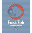 fresh fish vector image