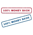 100 Percent Money Back Rubber Stamps vector image