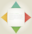 Triangle Infographic Background with Sample Text vector image