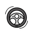steering wheel car element to can drive vector image