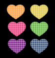 Colorful hearts vector image vector image