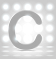 C over lighted background vector