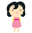 cartoon baby girl vector image