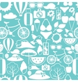 Seamless pattern with stylized summer objects vector image