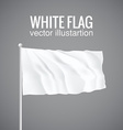 Blank white flag 3d eps 10 vector image