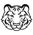 tiger calm black vector image