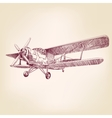 airplane vintage hand drawn llustration vector image