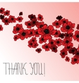 Floral background with poppies and hand lettering vector image