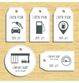 Gas station discount gift tags Ready to use Flat vector image