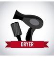 hair dryer design vector image