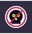 No Ban or Stop signs halloween skull icon vector image