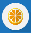 of dessert symbol on orange vector image