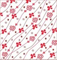 Red and white floral pattern vector image