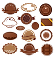 Set of chocolate badges and labels vector image