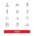 yoga meditation fitness poses exercise zen vector image