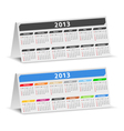 2013 desk calendars vector image vector image