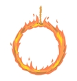 Ring of fire icon cartoon style vector image