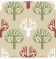Tree and deer print vector image