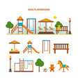 children entertainment playground benches vector image