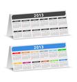 2013 desk calendars vector image