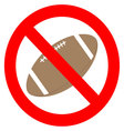 Prohibition to play with the ball rugby vector image