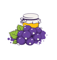 honey and berries vector image vector image
