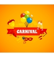 Carnival Flat Background vector image