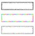 Colorful sketch banner frame design set vector image