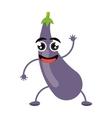 fun eggplant organic health vegetable vector image